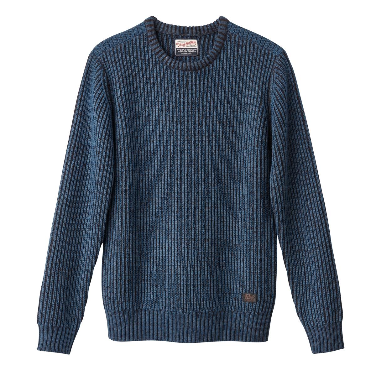 Пуловер крупной вязки