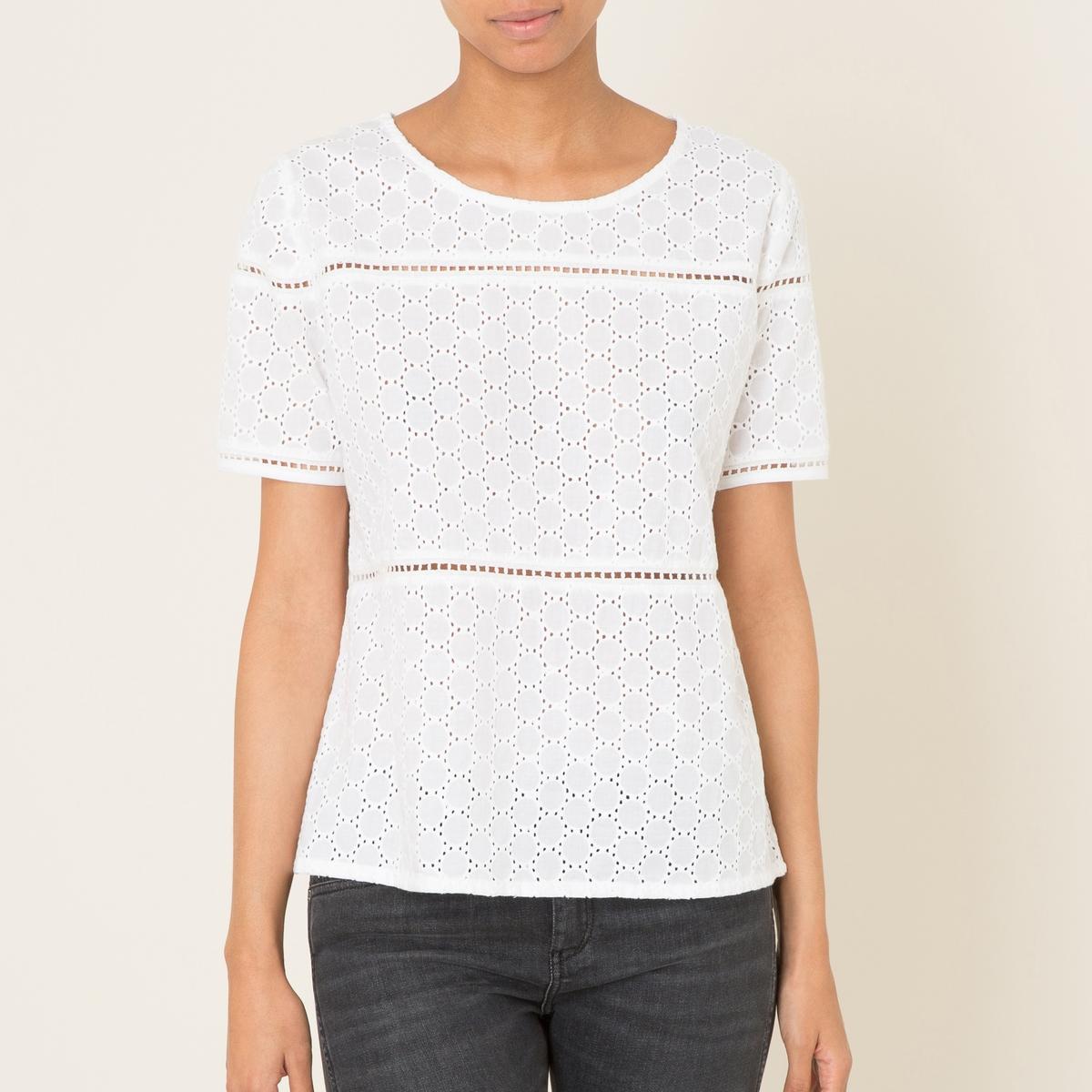 Блузка с английским шитьем юбка длинная с английским шитьем