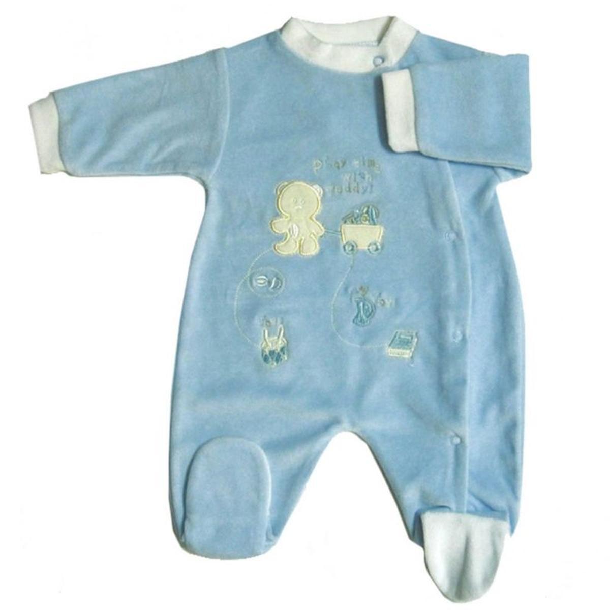 Pyjama manches longues brodé Teddy
