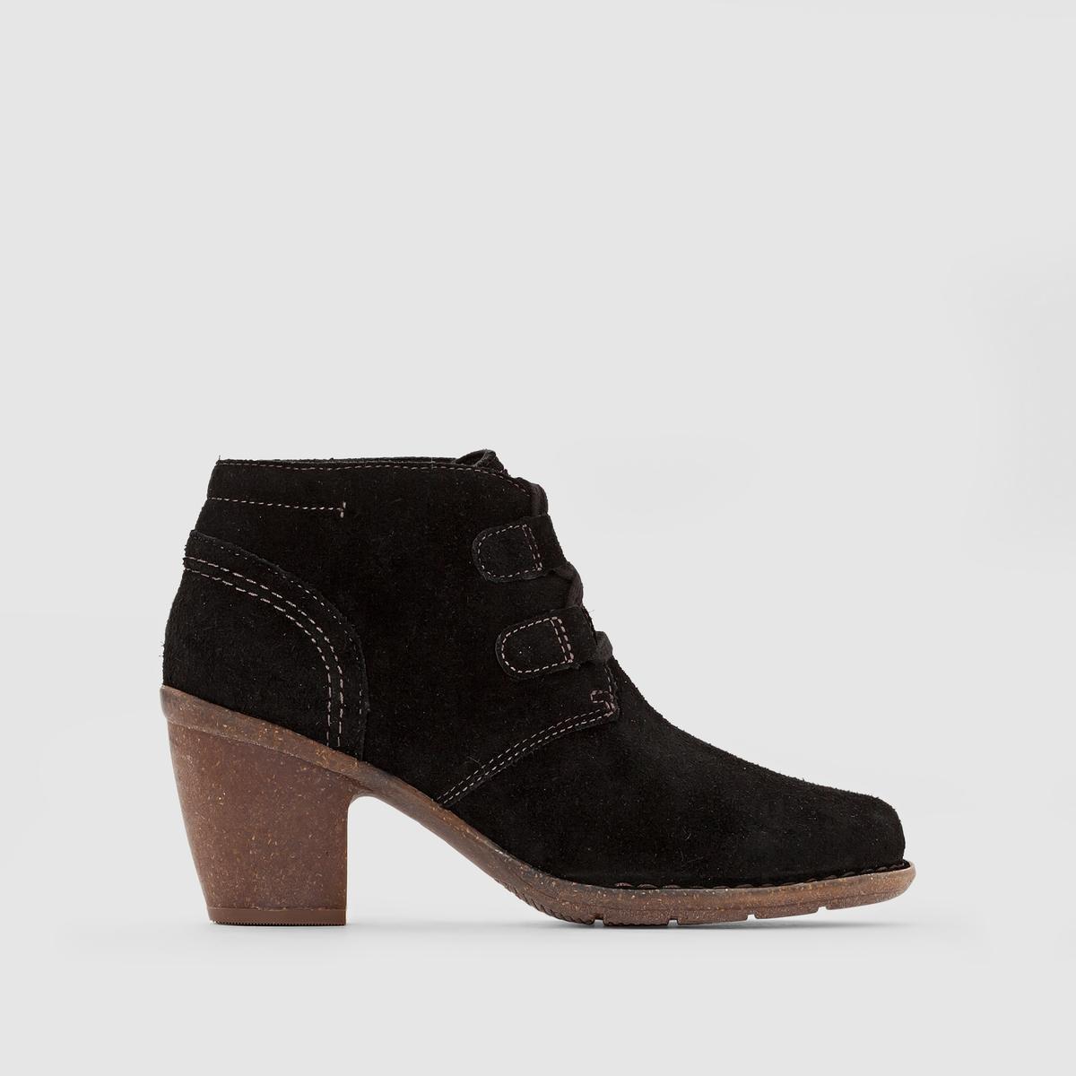 Ботильоны кожаные Carleta LyonПреимущества : Ботильоны CLARKS с технологией Cushion Plus в стиле нео-ретро, комфортные и элегантные.<br><br>Цвет: черный<br>Размер: 41