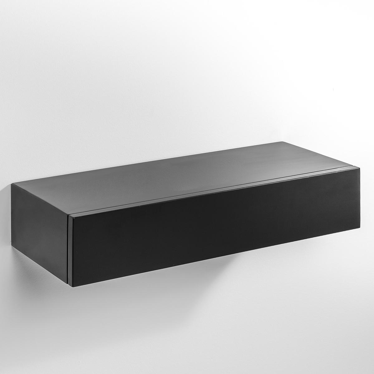 Полка-шкафчик VesperЭта полка-шкафчик незаметно крепится на стену. Можно использовать отдельно или соединять несколько шкафчиков вместе друг над другом.МДФ с лаковым покрытием - нитроцеллюлоза и полиуретан (модель под покраску из массива сосны).Размеры  : Шир..60 x.25 x.12 см.<br><br>Цвет: бежевый экрю,черный<br>Размер: единый размер