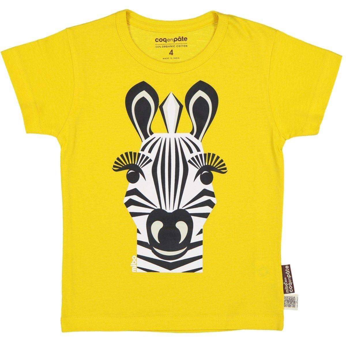 T-shirt en coton bio ZEBRE 1 à 8 ans