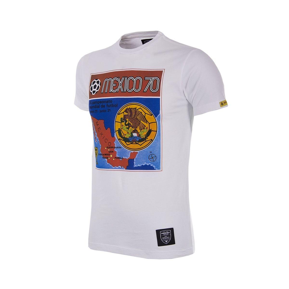 T-shirt Rétro Mexico 1970 Blanc