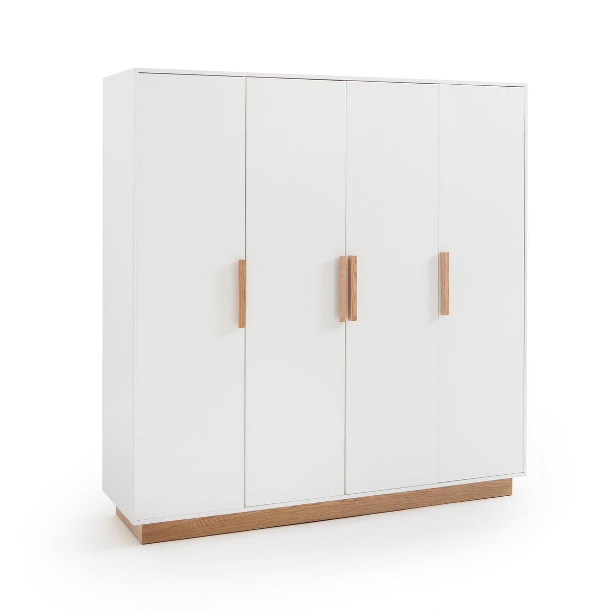 Шкаф LaRedoute С 4 дверцами FABI единый размер белый