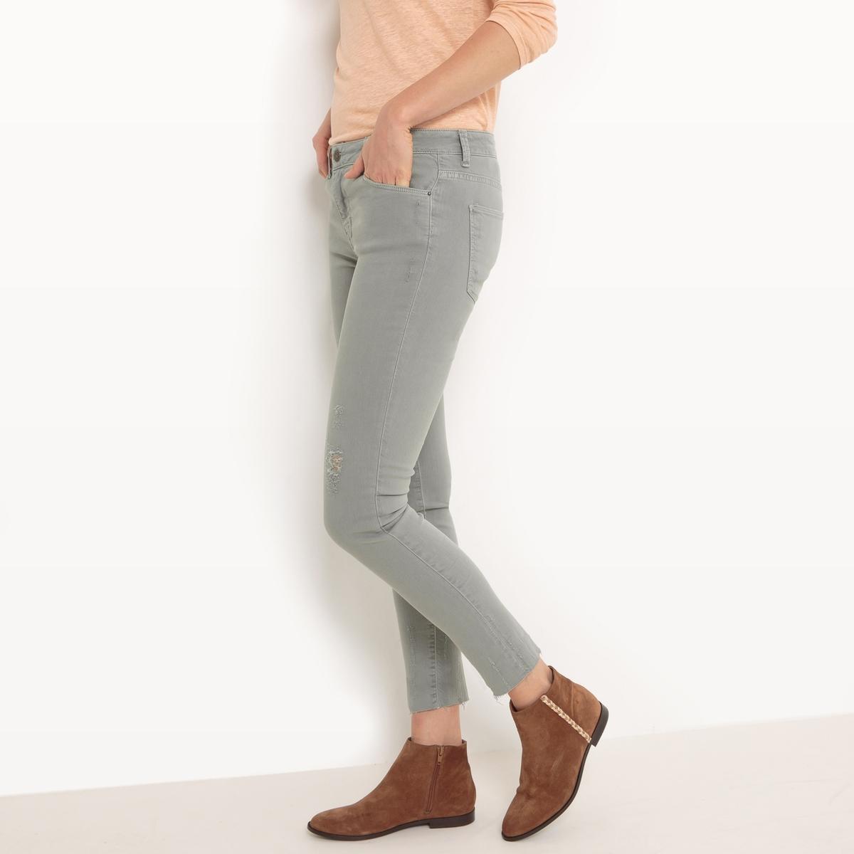 Джинсы скинни 7/8Материал : 98% хлопка, 2% эластана  Высота пояса : стандартная Покрой джинсов : скинни Длина джинсов : длина 32<br><br>Цвет: хаки