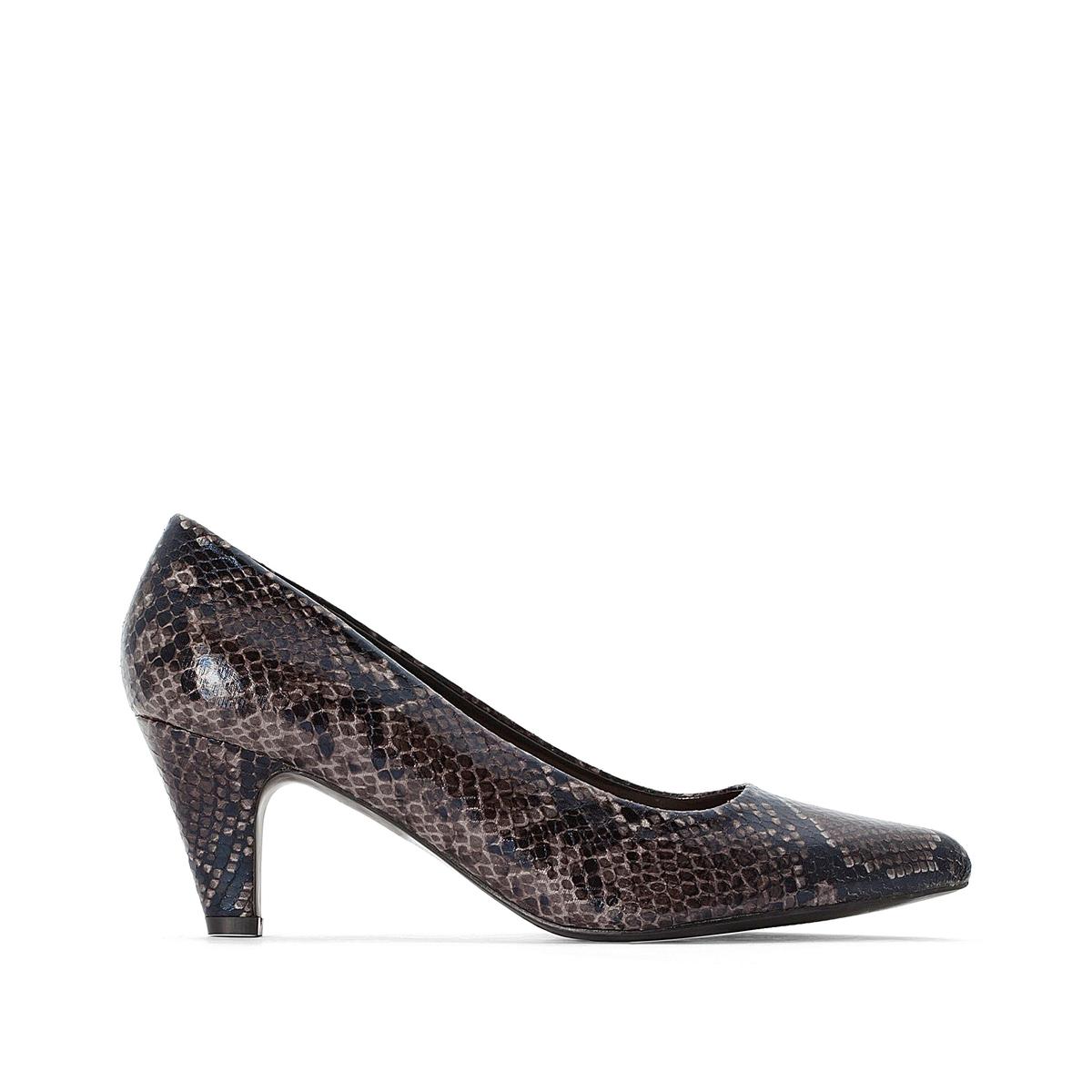 Туфли La Redoute С питоновым принтом 42 черный туфли la redoute на среднем каблуке с питоновым принтом 36 каштановый