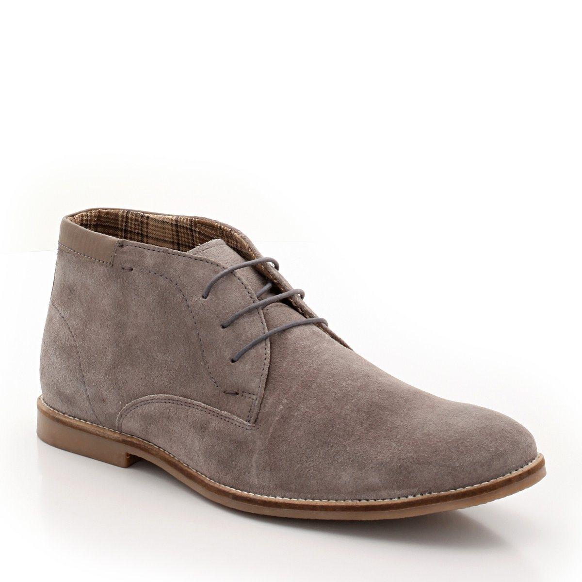 Ботинки из спилка яловичной кожи ботинки из спилка