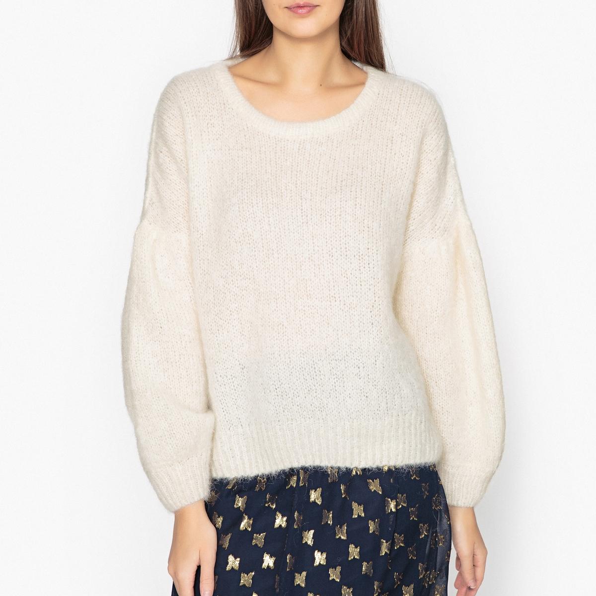 Пуловер с круглым вырезом из тонкого трикотажа SIRI