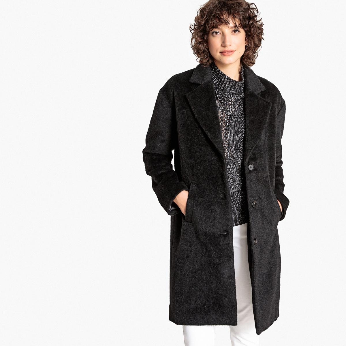 Abrigo de lana mezclada con corte amplio