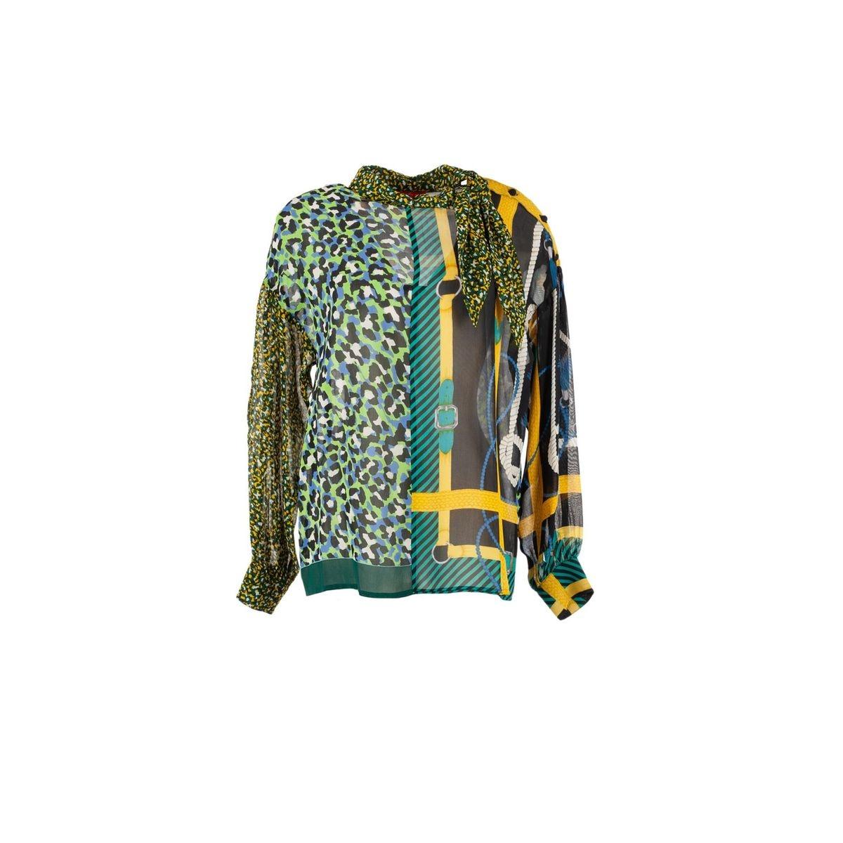 Blouse georgette imprimé motifs foulard - Arpege