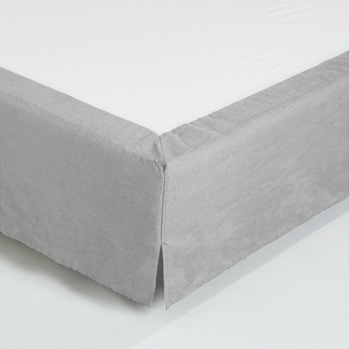 Чехол La Redoute Для кровати льна 180 x 200 см серый семеня льна компас здоровья 200 г