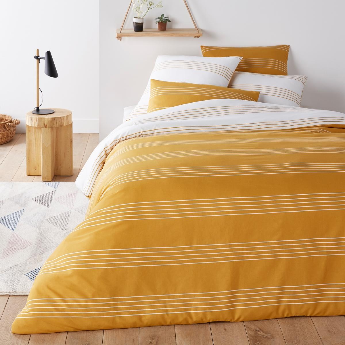 Пододеяльник La Redoute Горизонт 140 x 200 см желтый