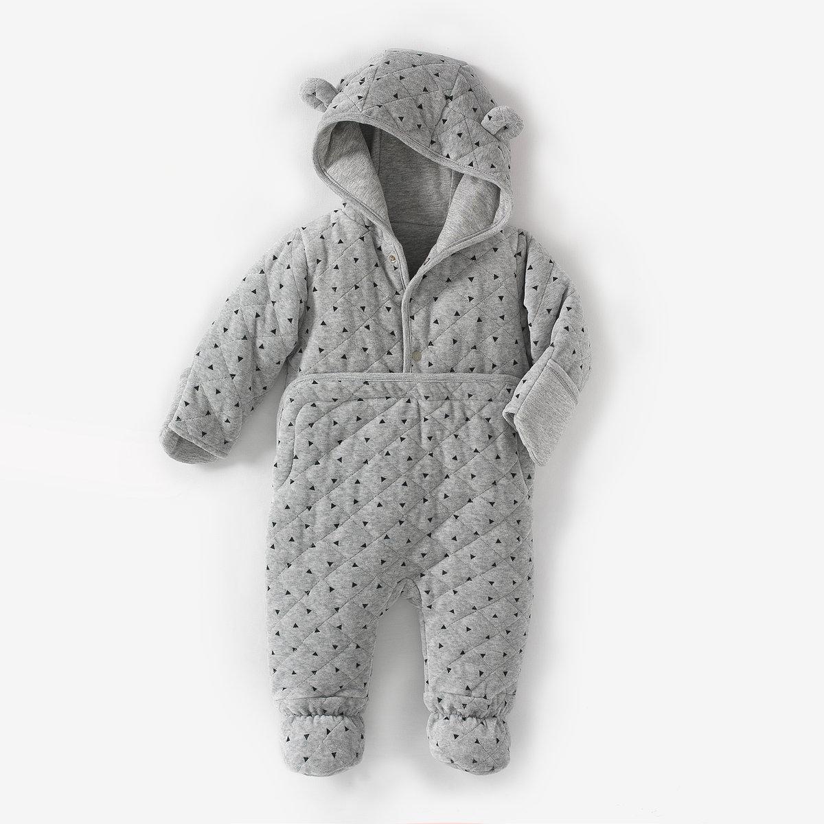 Macacão para bebé, com capuz