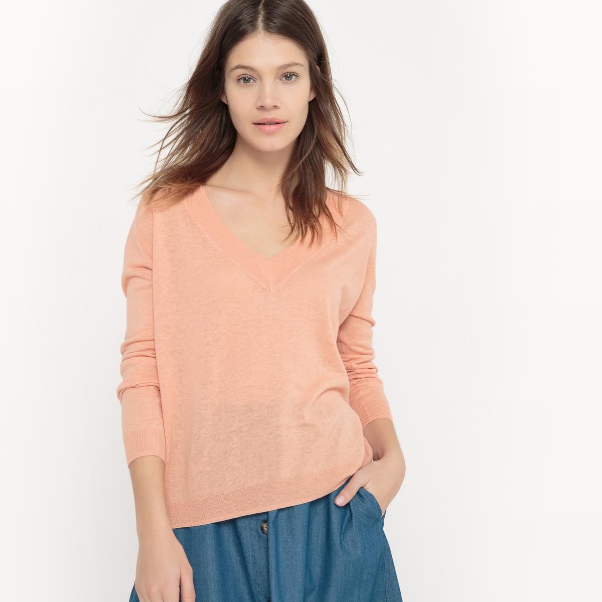 Пуловер с V-образным вырезом пуловер с v образным вырезом