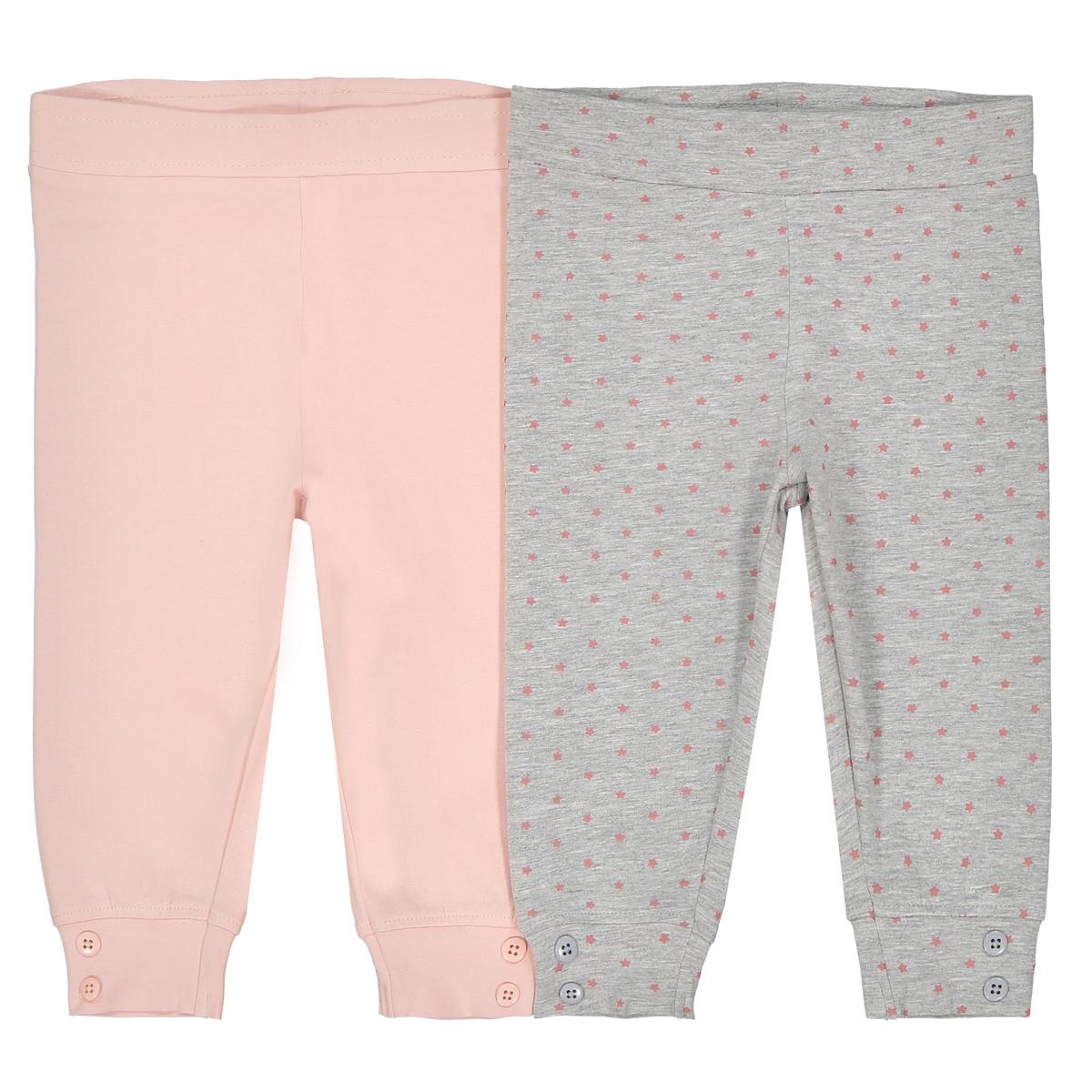 Confezione da 2 leggings in cotone 0 mesi - 2 anni