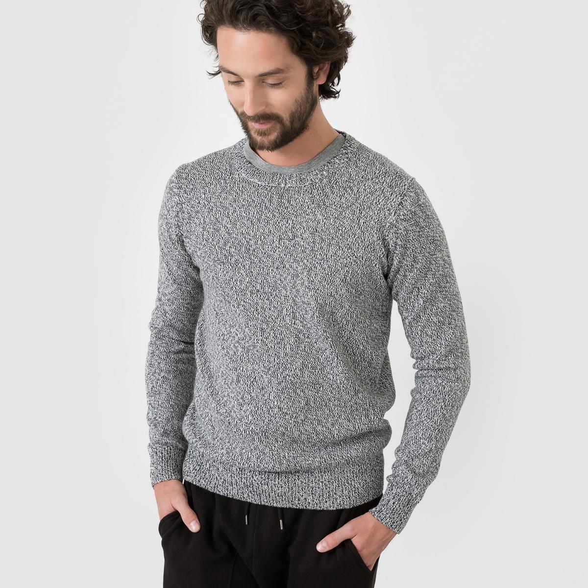 Пуловер из трикотажа мулинеСостав и описание:Материал: 100% хлопка.Марка: R edition<br><br>Цвет: бордовый/экрю,серый меланж<br>Размер: 3XL