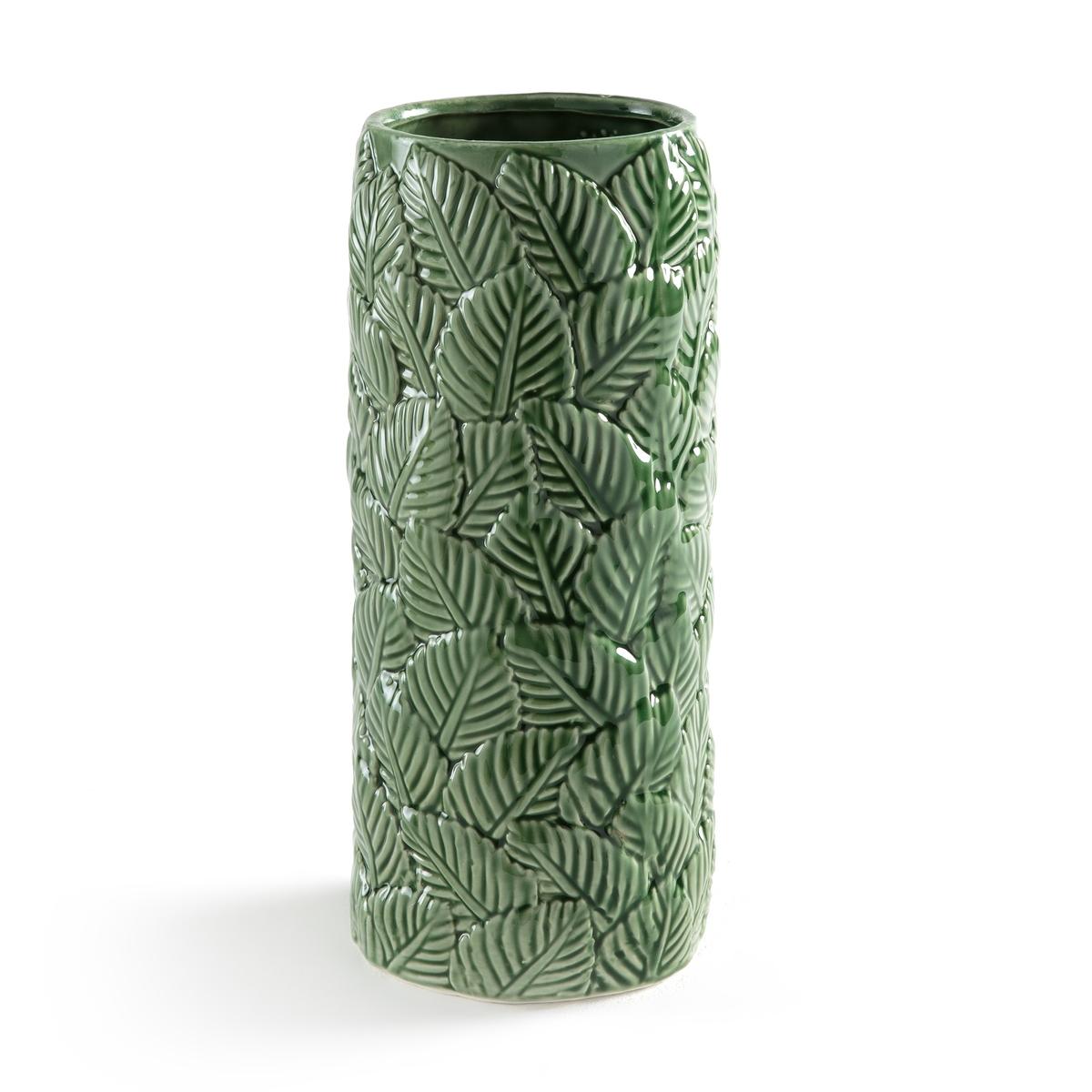 Ваза из фаянса, CATALPAОписание:Ваза из фаянса CATALPA. Ваза с красивым рельефным узором листья подчеркнет любой букет .Описание вазы CATALPA :Рельефный узор листьяХарактеристики вазы CATALPA :Фаянс с эмалированным покрытиемРазмеры вазы CATALPA :Диаметр : 14 см Высота: 33 см<br><br>Цвет: зеленый