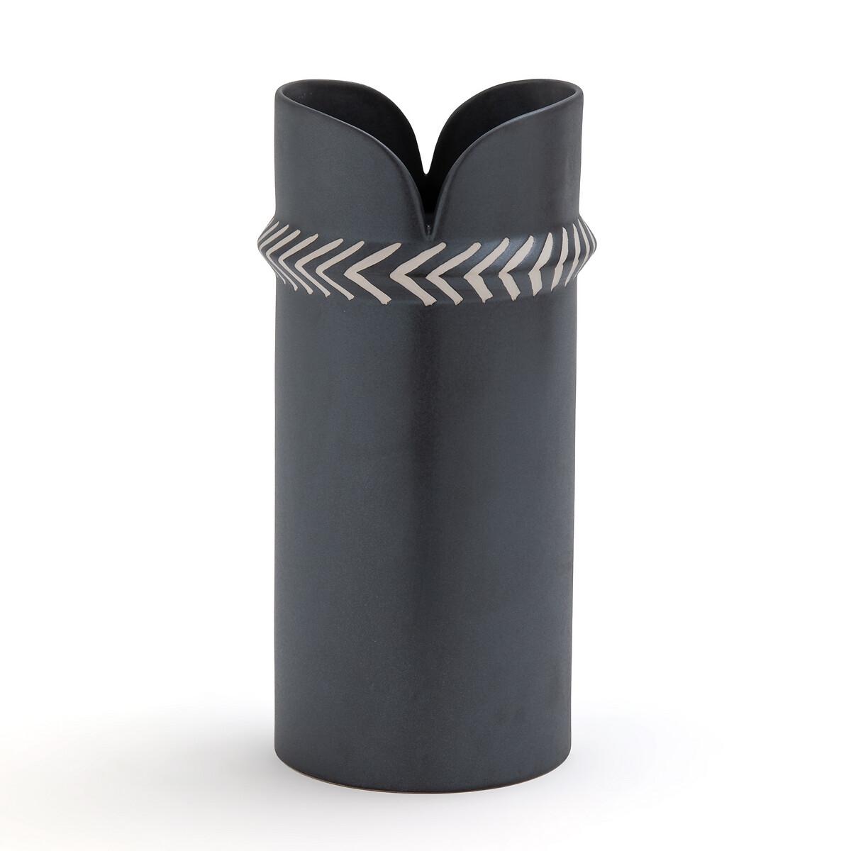 Ваза LaRedoute Из керамики с декором Varana единый размер серый ваза с рельефом 30 см 19118230 0157 rudolf kampf