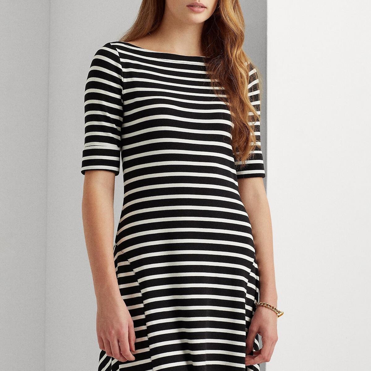 Платье LaRedoute Расклешенное длина миди 34 M черный