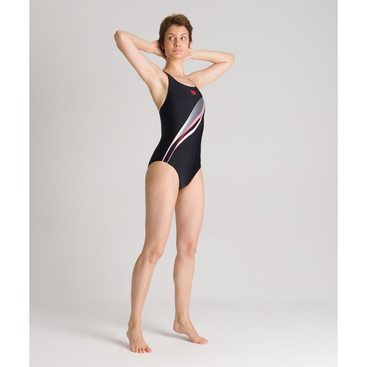 цена на Купальник La Redoute Цельный для занятий в бассейне Harmonious 46 (FR) - 52 (RUS) черный