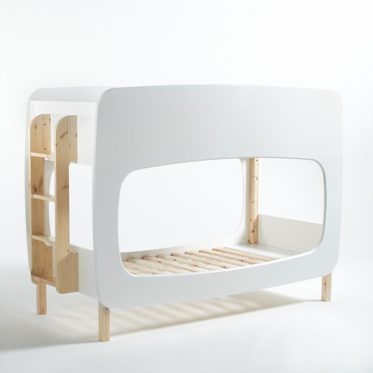 Двухъярусная La Redoute Кровать Bubble с основами под матрас 90 x 190 см белый