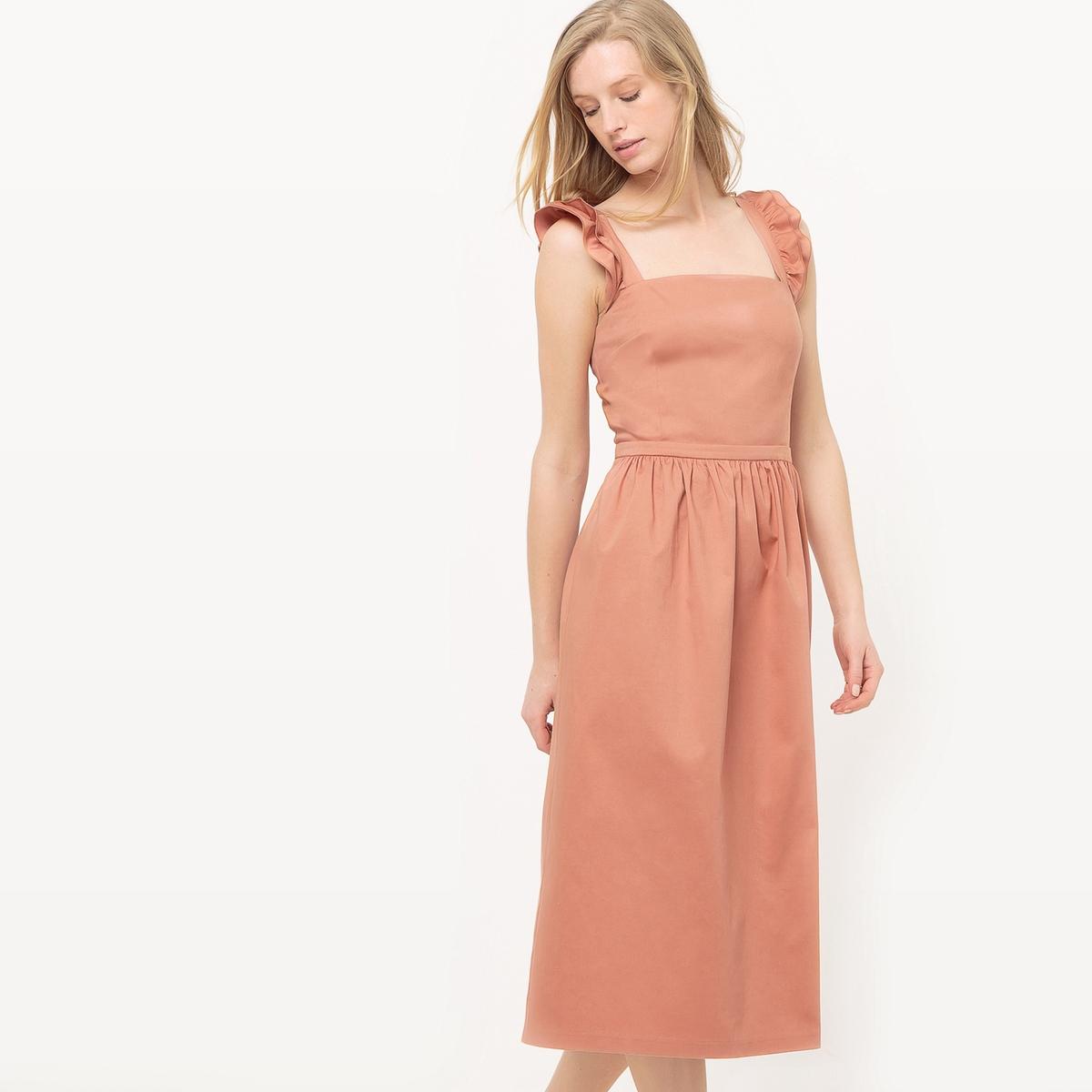 Платье-сарафан с воланами