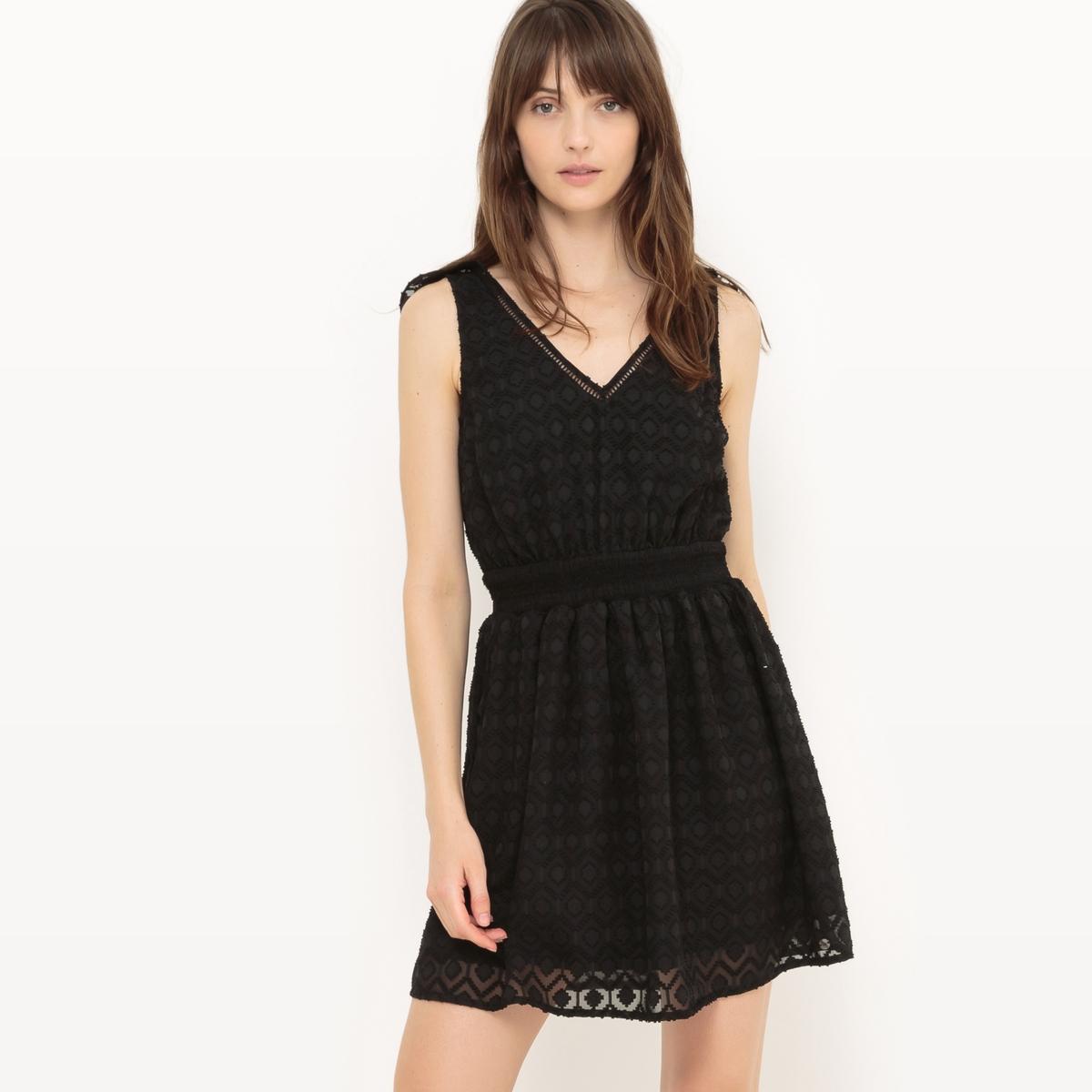 Платье без рукавов с V-образным вырезом сзади и воланами напильник 203 мм truper lpb 8b 15221