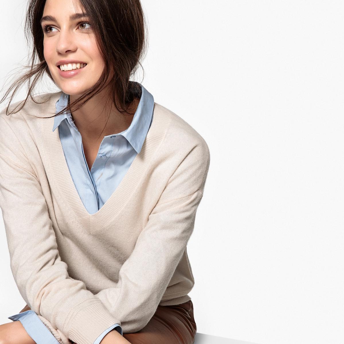 Фото - Пуловер, с V-образным вырезом из кашемира v persie van basten 556688