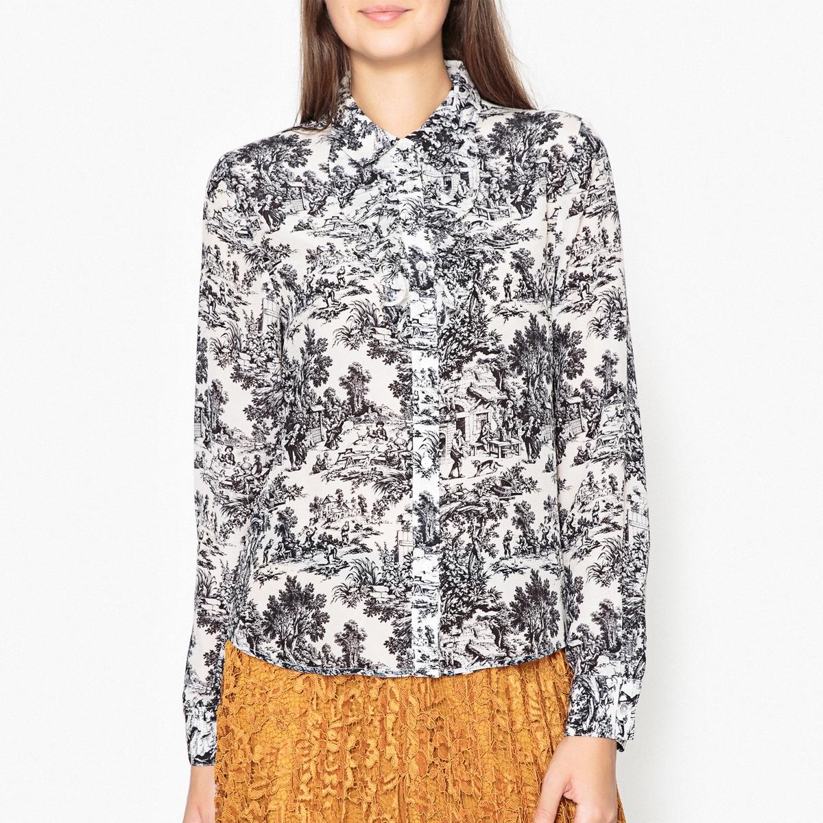 Рубашка с рисунком из шелка OQUIP