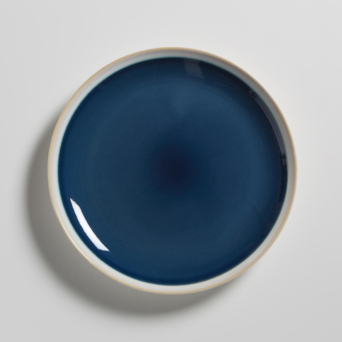 Комплект из десертных тарелок La Redoute Из керамики DEONIE единый размер синий комплект из 4 десертных тарелок sam baron
