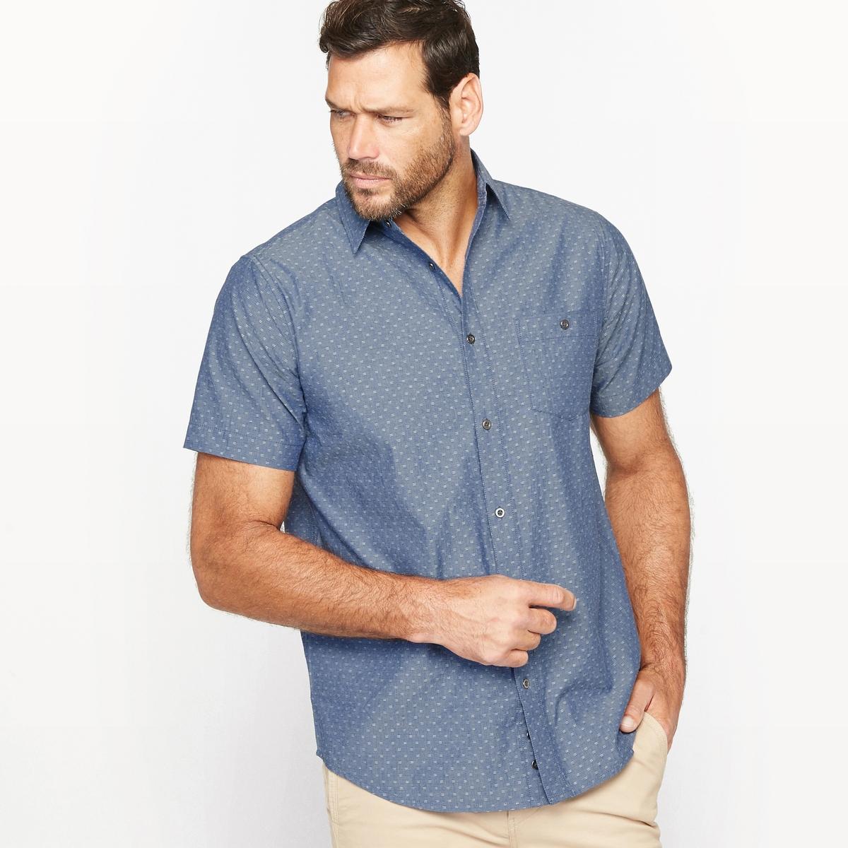 Рубашка жаккардовая из шамбре