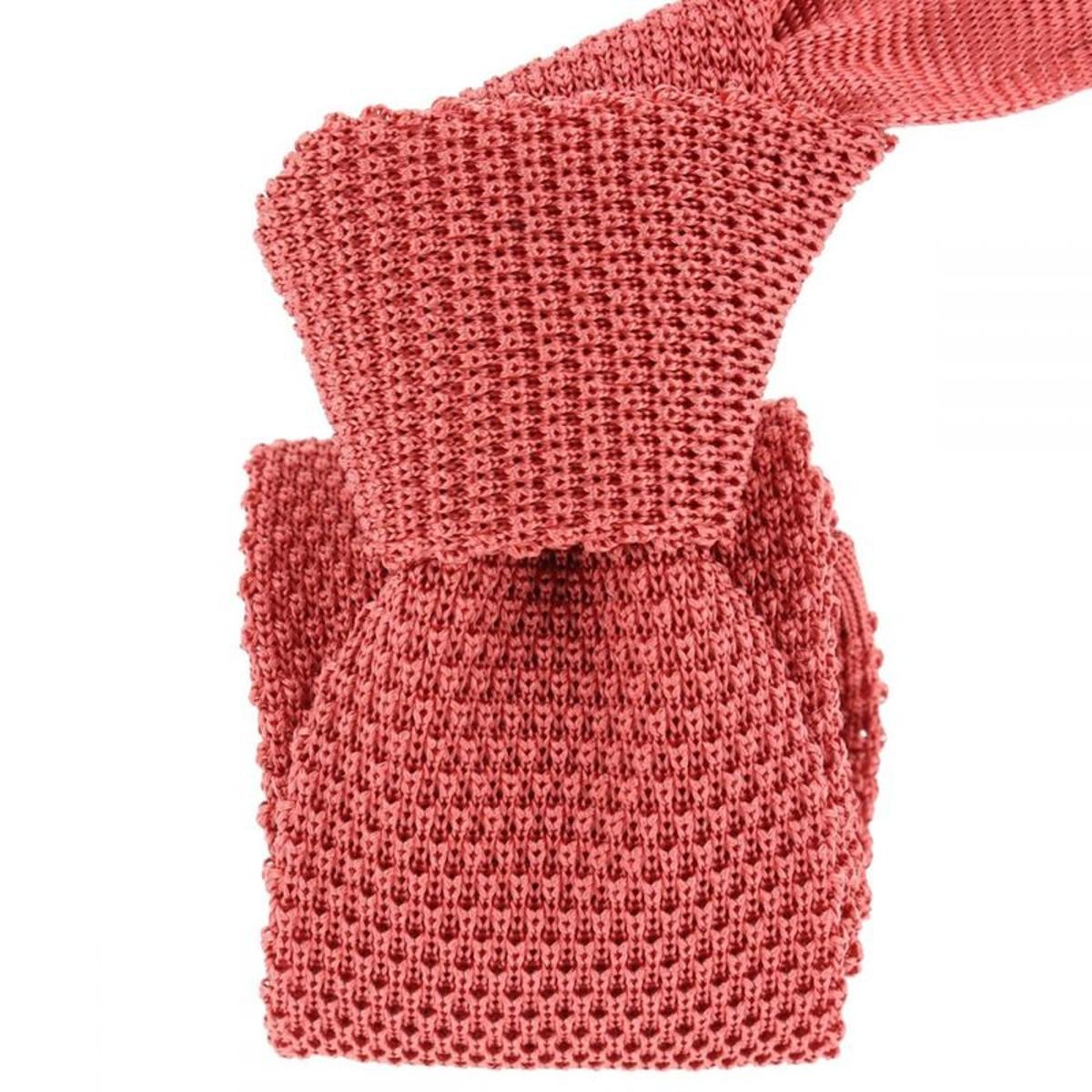 Cravate tricot Intemporelle. Soie Uni