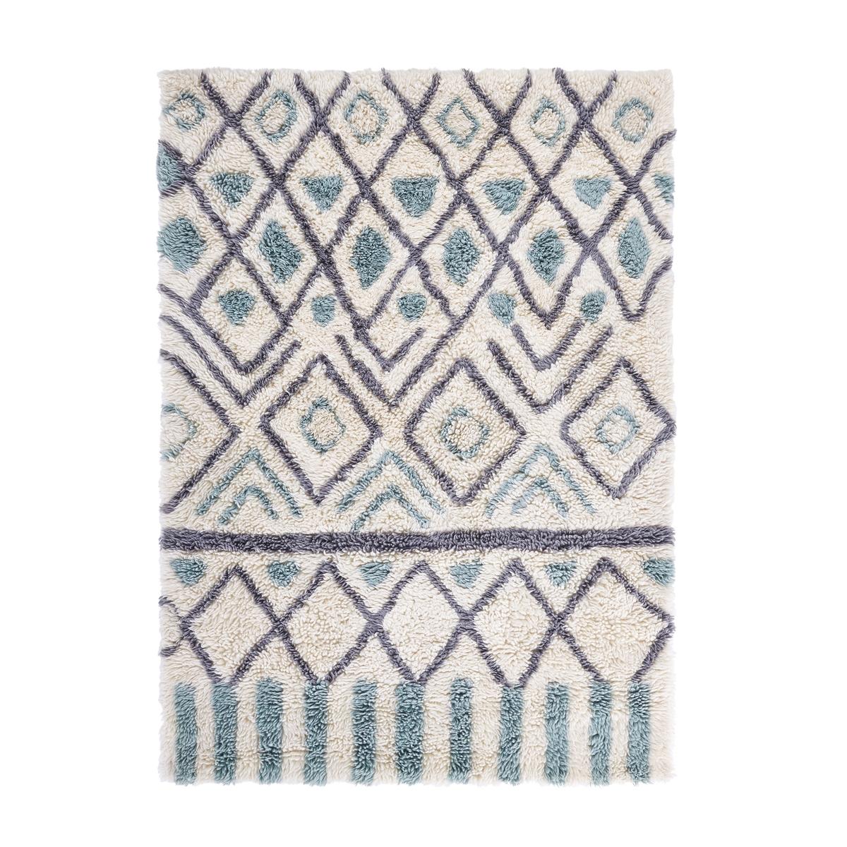 Ковер La Redoute Из шерсти OCRUL 120 x 170 см синий ковер la redoute шерсть в берберском стиле anton 120 x 170 см бежевый