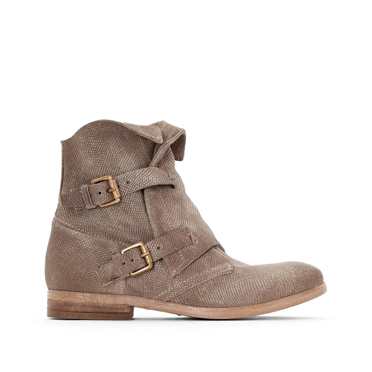 Сапоги кожаные NicoleВерх/Голенище: кожа.  Подкладка: кожа.  Стелька: кожа.  Подошва: резина.Высота каблука: 2 см.Форма каблука: плоский каблук.Мысок: закругленный.Застежка: на молнию.<br><br>Цвет: серо-коричневый<br>Размер: 37.38.39