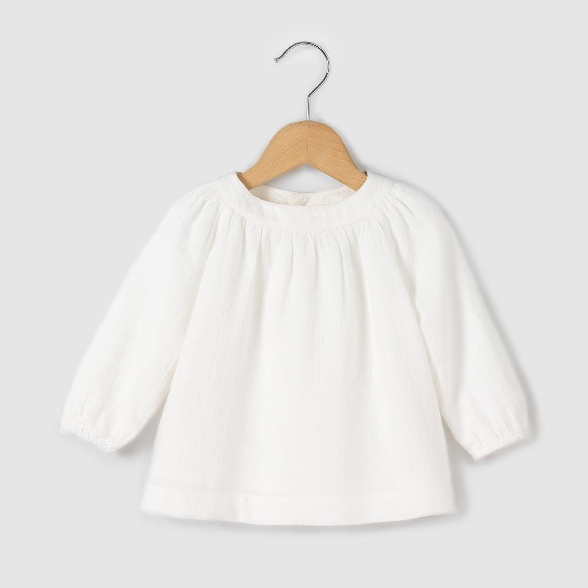 Блузка с застежкой на пуговицы сзади, на 0 мес.-3 лет