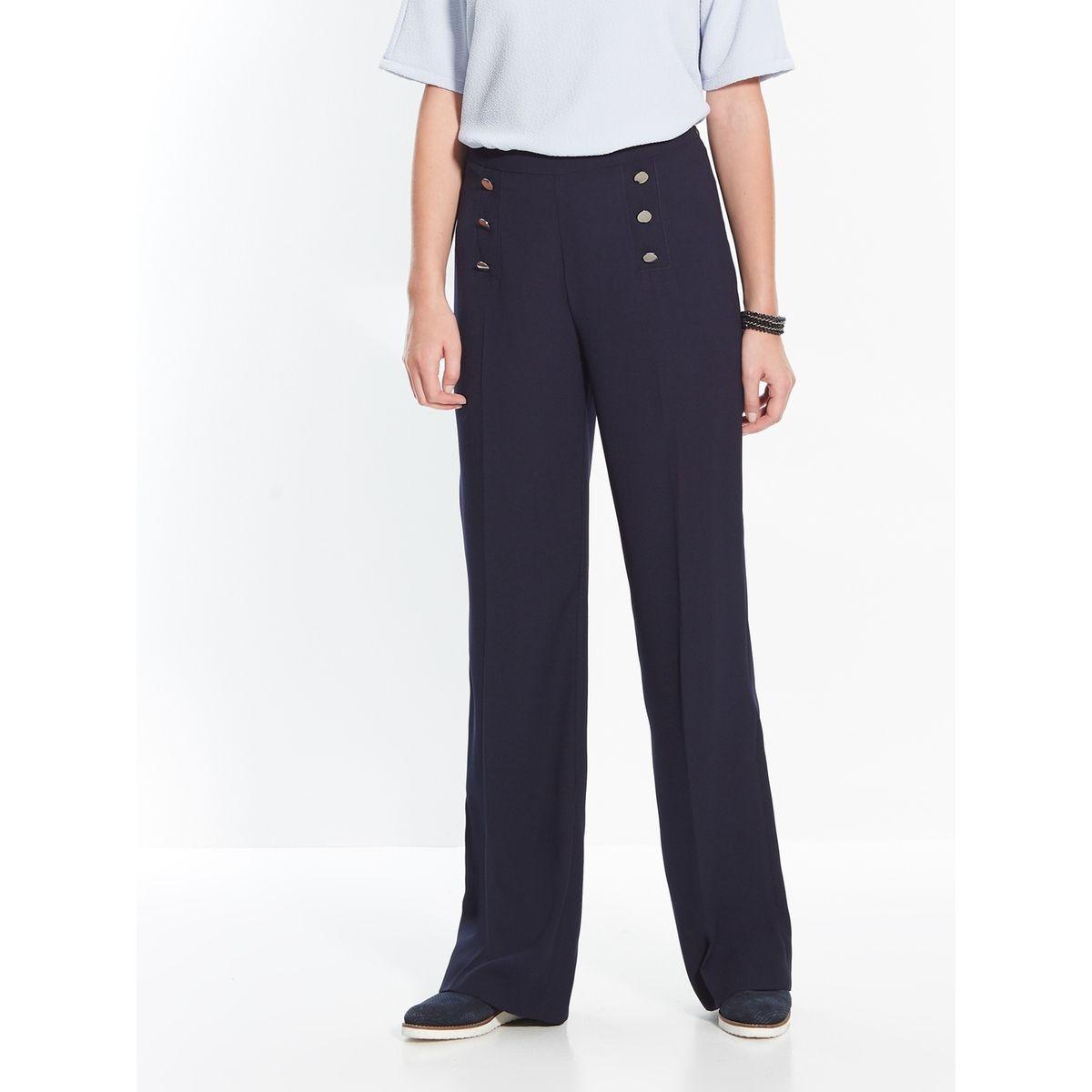 Pantalon large à faux pont, stature moins d'1,60m