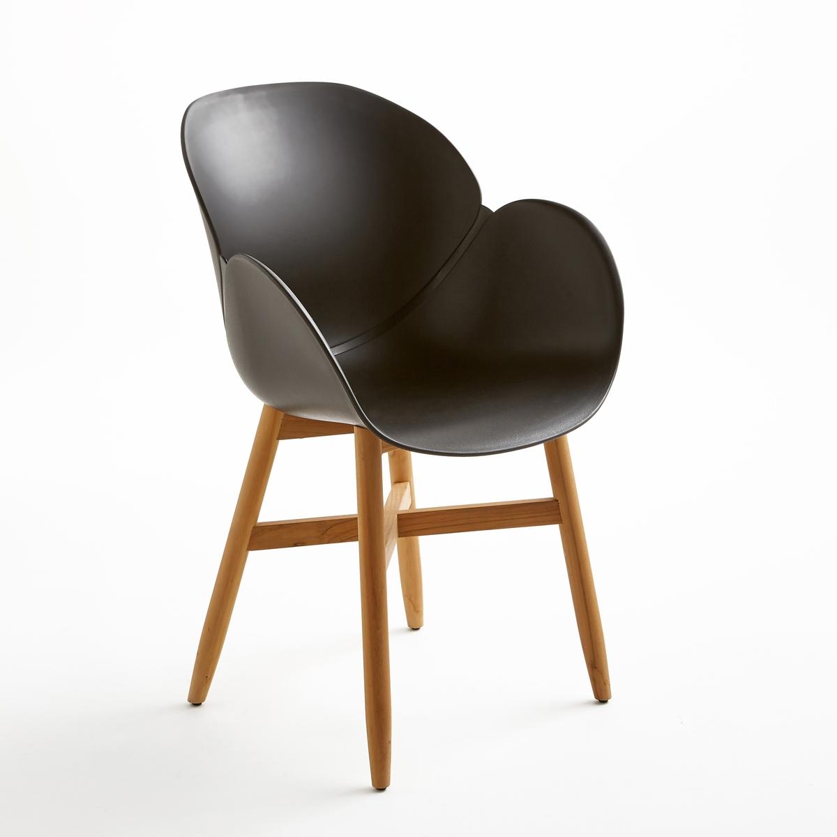 Кресло для сада с сиденьем в форме раковины, JimiКресло для сада с сиденьем в форме раковины Jimi. Кресло для сада Jimi, прочная обивка сиденья из полипропилена, крепкие ножки из тика FSC®*.Характеристики кресла для сада с сиденьем в форме раковины Jimi :Сиденье в форме раковины и подлокотники из полипропилена.Расширяющиеся ножки из тика FSC®*, с натуральной отделкой .Всю коллекцию мебели для сада и стулья того же набора Jimi вы можете найти на сайте laredoute.ruРазмеры кресла для сада с сиденьем в форме раковины Jimi :Общие размерыДлина : 58 см  Высота : 85,5 смГлубина : 58 см  Сиденье : Ш.42 x Г.48 смРазмеры и вес упаковки :1 упаковка :62 x 54 x В.55 см7 кгДоставка:Товар продается готовым к сборке.Возможна доставка до двери по предварительной договоренности.Внимание! Убедитесь, что возможно осуществить доставку товара, учитывая его габариты (проходит в дверные проемы, лестничные проходы, лифты).*Ярлык FSC - Международный Лесной попечительский совет- гарантирует бережное использование природных ресурсов, сохранение биологического разнообразия и местных видов ® 1996 FSC.<br><br>Цвет: черный
