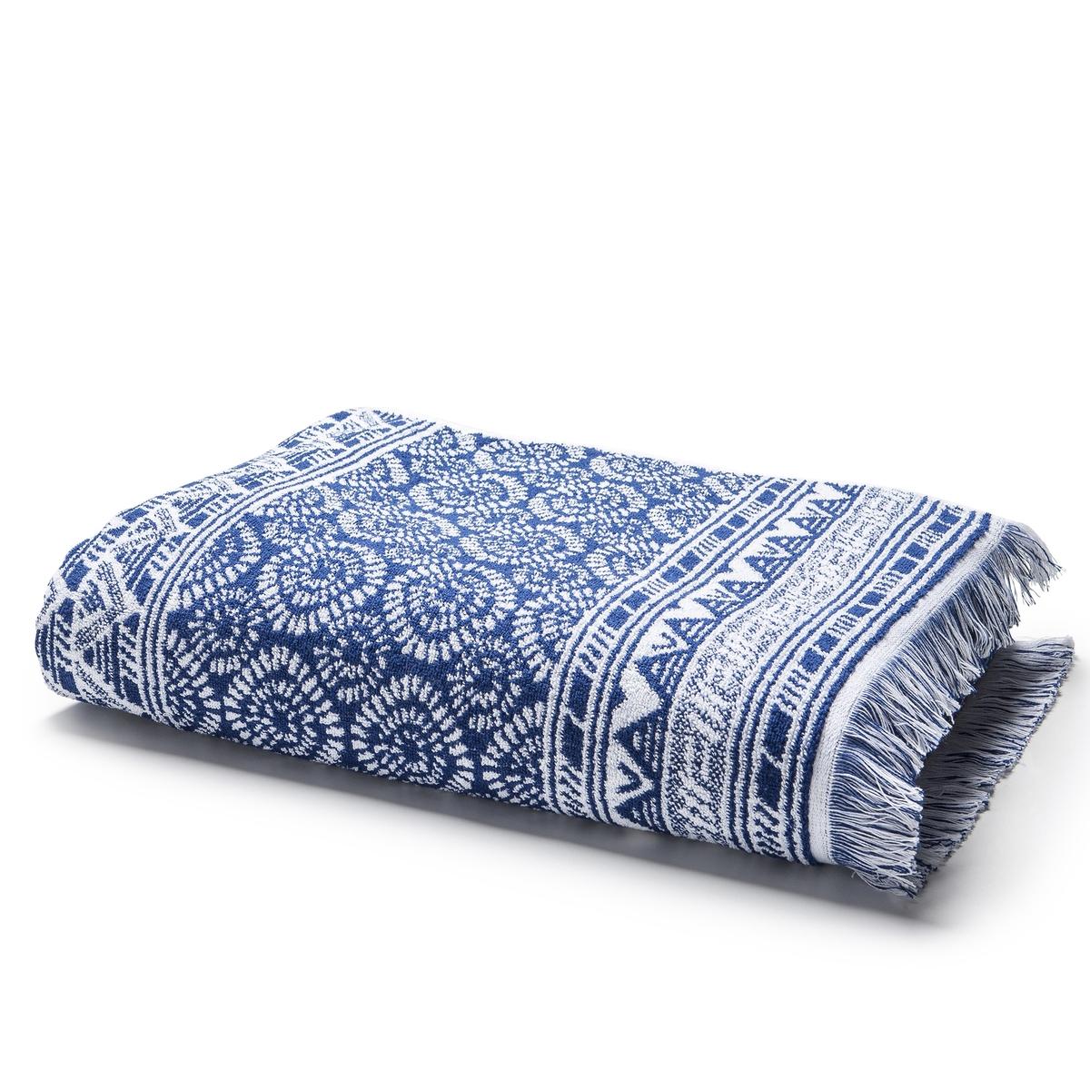 Банное махровое полотенце с жаккардом 500 г/м²  AZUL