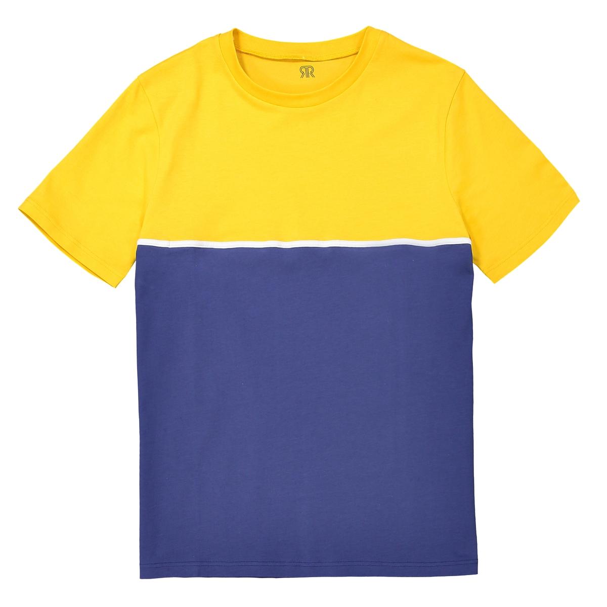 T-shirt de gola redonda, color block