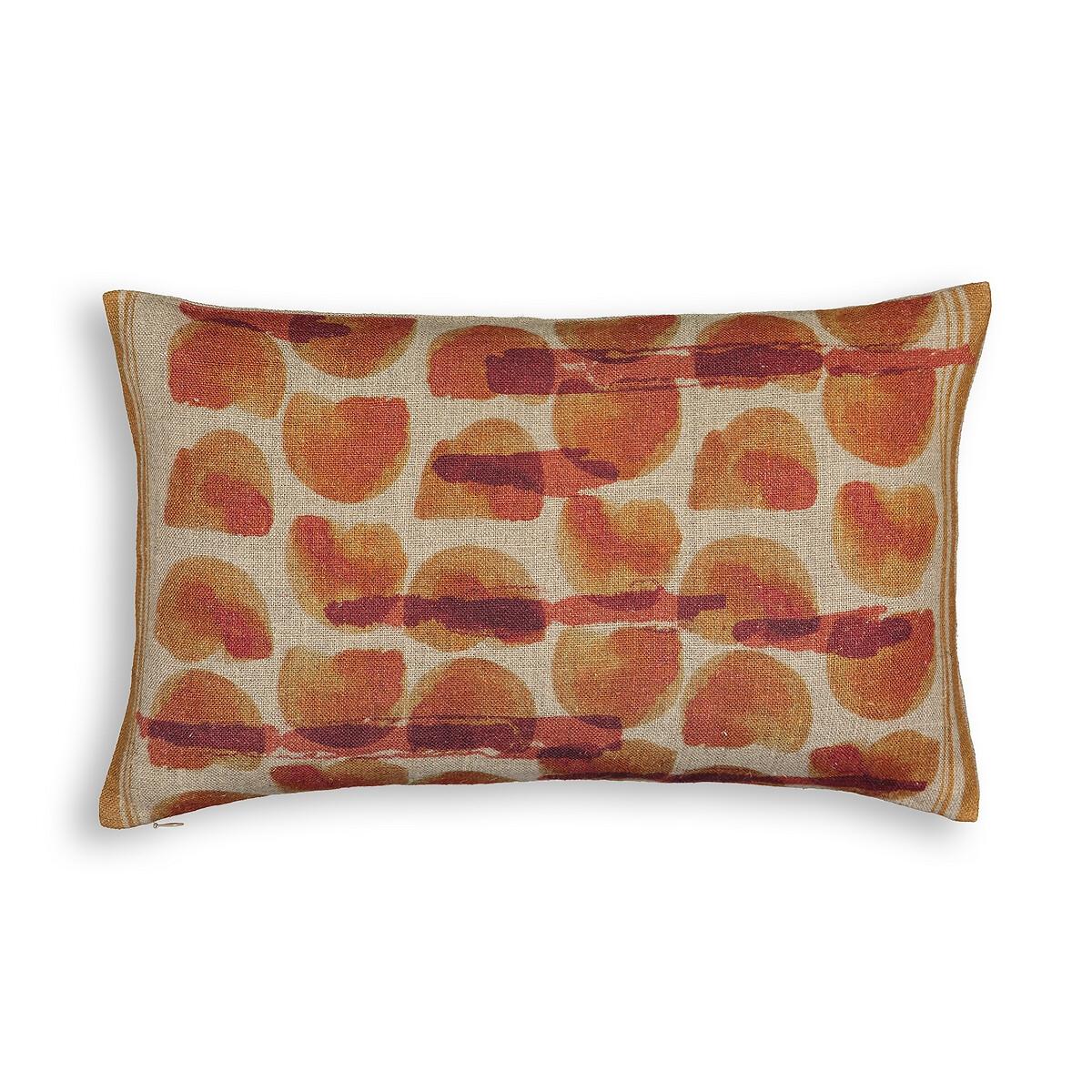 Чехол LaRedoute На подушку 100 лен Limona 50 x 30 см оранжевый 0 pr на 100