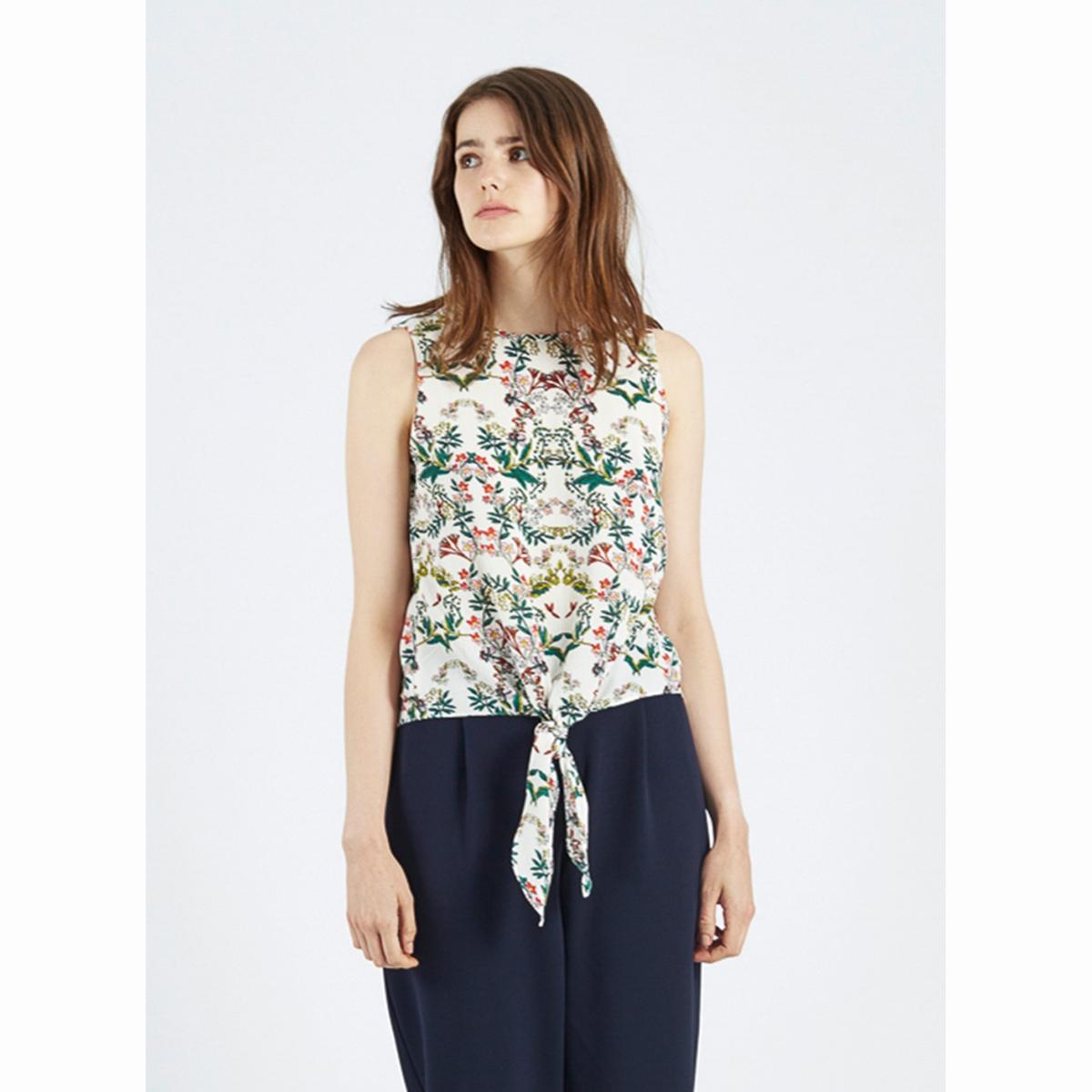 цена Блузка без рукавов с цветочным рисунком Juniper онлайн в 2017 году