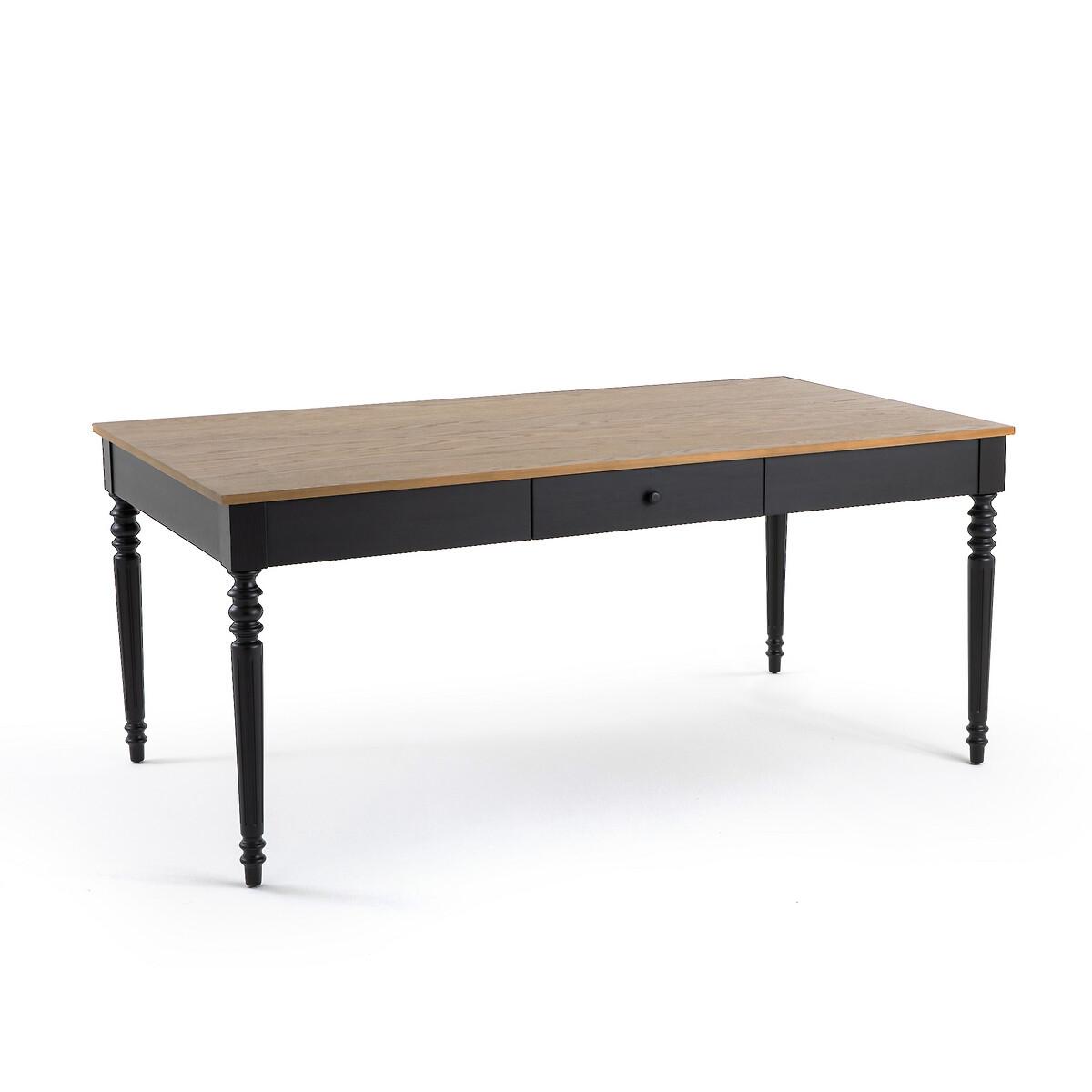 Стол LaRedoute Обеденный на 8 персон Lipstick 8 персоны черный стол laredoute обеденный из массива сосны на 8 персон gabor 8 персоны бежевый