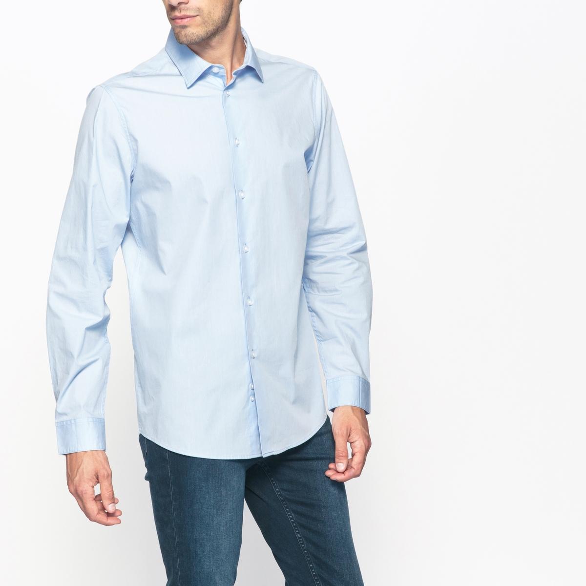 Рубашка узкого покроя, 100% хлопок