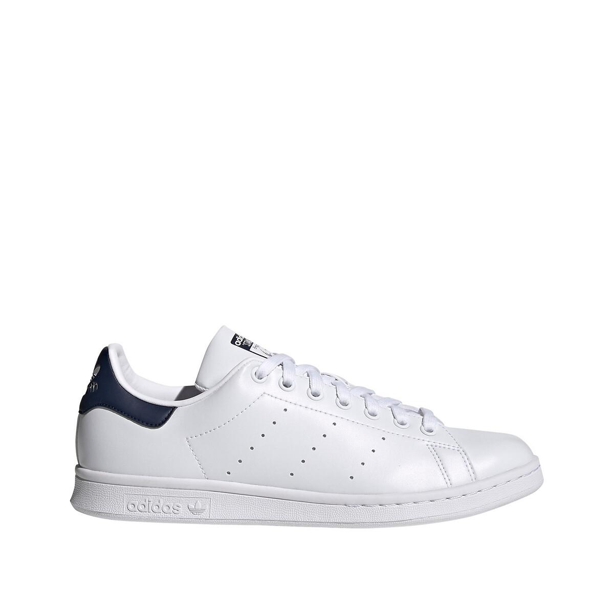 Adidas Originals Stan Smith Sneakers in wit met marineblauw hielstuk online kopen