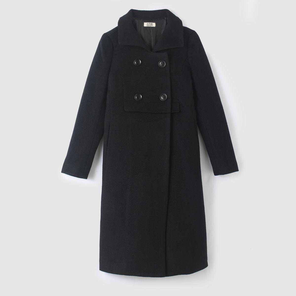 Manteau caban long, 4 boutons
