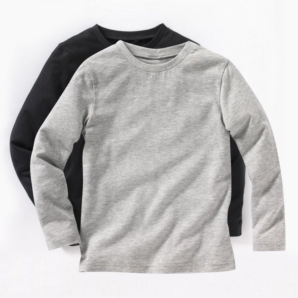 Комплект из 2 футболок, 3-12 летДетали •  Длинные рукава •  Круглый вырезСостав и уход •  100% хлопок •  Температура стирки 40°   •  Сухая чистка и отбеливание запрещены •  Барабанная сушка на деликатном режиме • Средняя температура глажки.<br><br>Цвет: красный + темно-синий,серый меланж + белый,черный + серый меланж<br>Размер: 4 года - 102 см.6 лет - 114 см.8 лет - 126 см.2 года - 86 см.10 лет - 138 см.18 мес. - 81 см.6 лет - 114 см.8 лет - 126 см.10 лет - 138 см.12 лет -150 см.18 мес. - 81 см.5 лет - 108 см