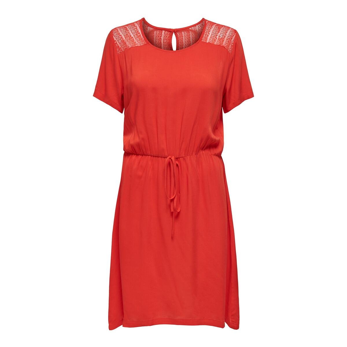 Платье La Redoute Расклешенное со вставками сзади длина до колен 42 (FR) - 48 (RUS) красный платье la redoute прямое с принтом до колен 48 fr 54 rus черный
