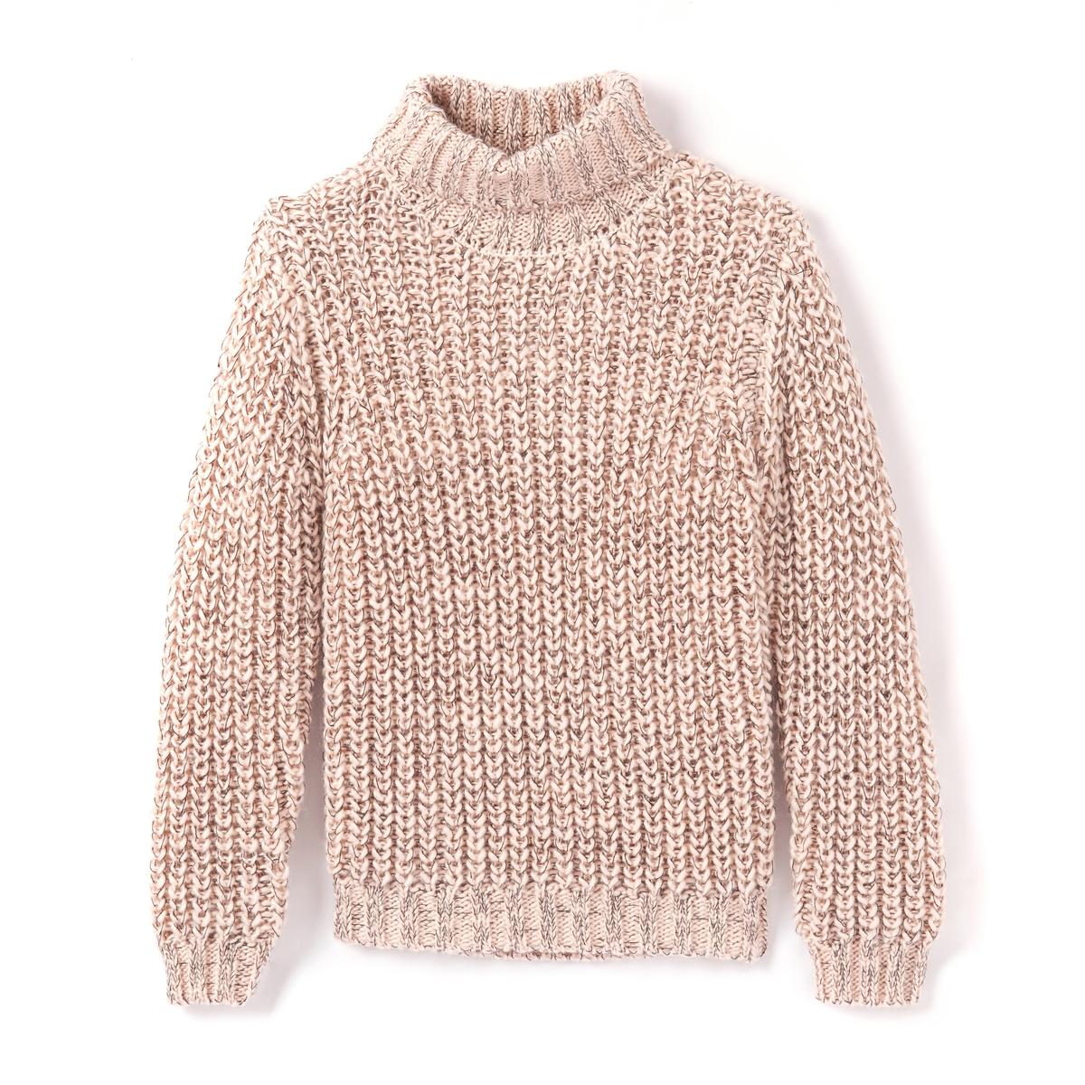 Пуловер со стоячим воротником, 3-12 лет