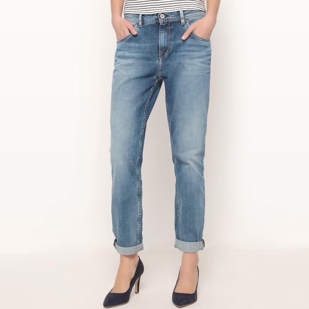 Джинсы бойфренд VAGABONDМатериал : 98% хлопка, 2% эластана         Высота пояса : стандартная        Покрой джинсов : бойфренд        Длина джинсов : длина 32<br><br>Цвет: синий потертый<br>Размер: 27 длина 32