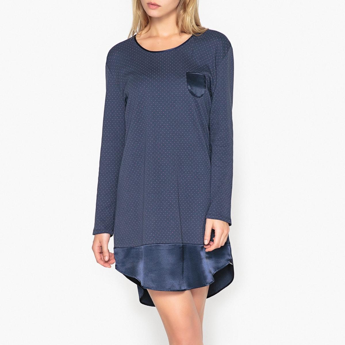 Ночная рубашка из хлопка, с длинными рукавами, Pretty